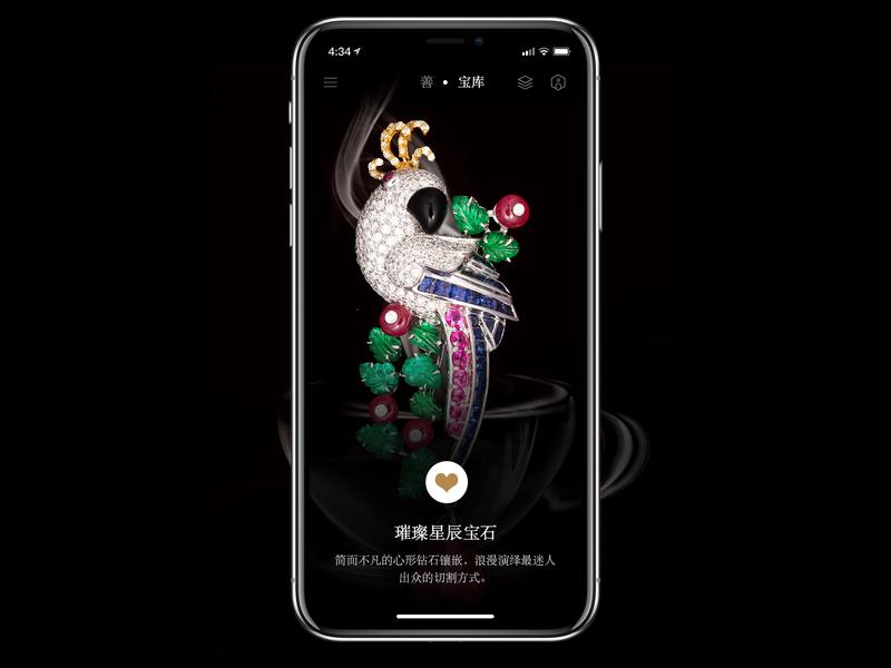 Charity & Jewelry APP Black Version 设计 ui