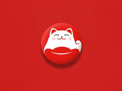YOUCAI Technology Company Logo Design logo design challenge logo house auction fortune cat cat auction
