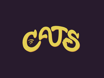 Cats cats handlettering