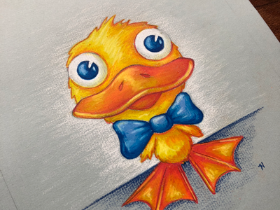 Duck Illustration duck drawing illustration coloredpencils prismacolorpencils