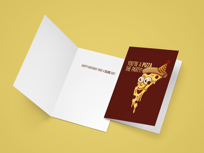 You're A Pizza The Party illustration greeting card card aiga raleigh st. jude