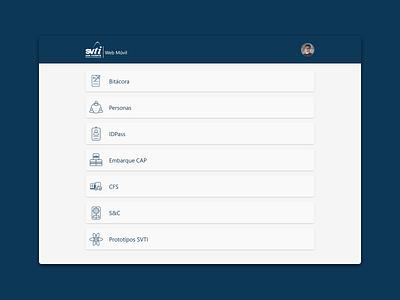 SVTI Web Móvil diseño ux app icon design web aplicación ui