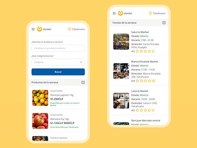 Stockei — Home ux diseño mobile app mobile ui design app aplicación