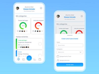 Lisynote — Inicio y nueva tarea icon mobile app mobile ux ui diseño design app aplicación