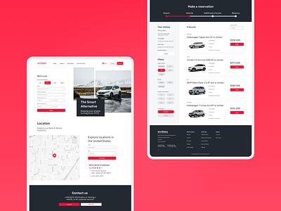 Rentawreck Web Concept car web ux ui diseño design