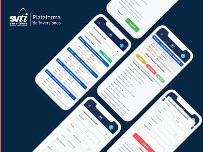 SVTI Plataforma de Inversiones mobile app mobile flat ux diseño app ui aplicación design