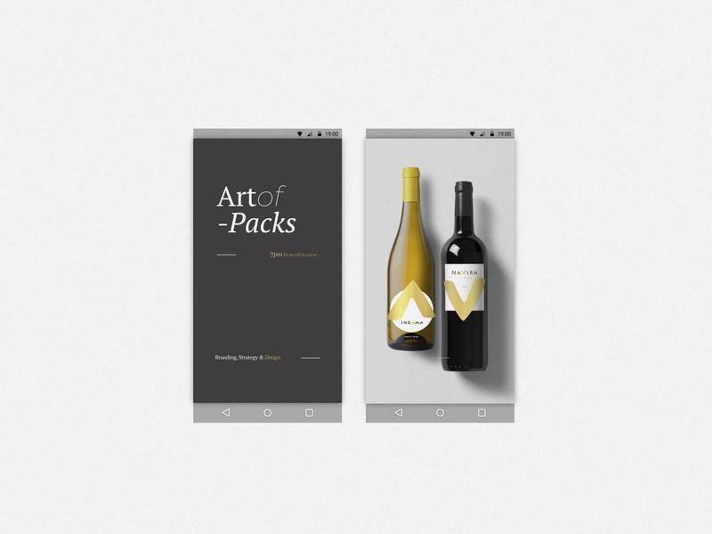 7pm_ BrandStudio package design pack typography branding logo digital ui visualdesign design