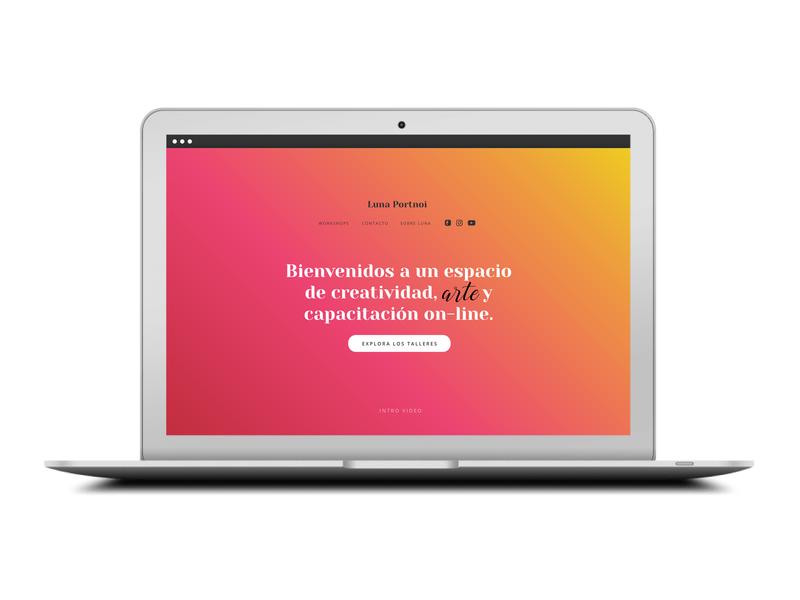 Landing Luna Color 01 website flat web design ux typography branding digital ui ui  ux design visualdesign