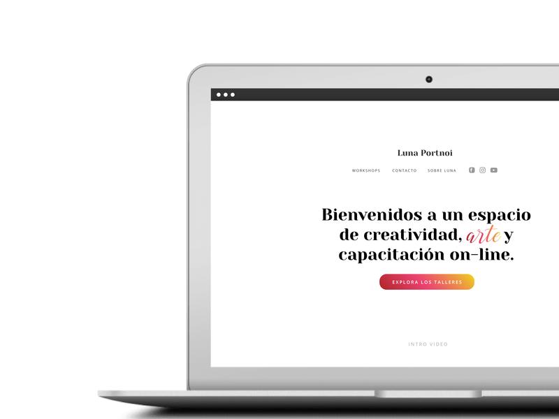 Landing Luna Color 02 web typography ui ui  ux design digital visualdesign design