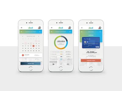 App Banca Móvil xperience branding app ui  ux design digital ui visualdesign design