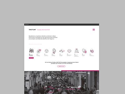 Landing Insitum / Archive 2017 web ux xperience branding app ui ui  ux design digital visualdesign design
