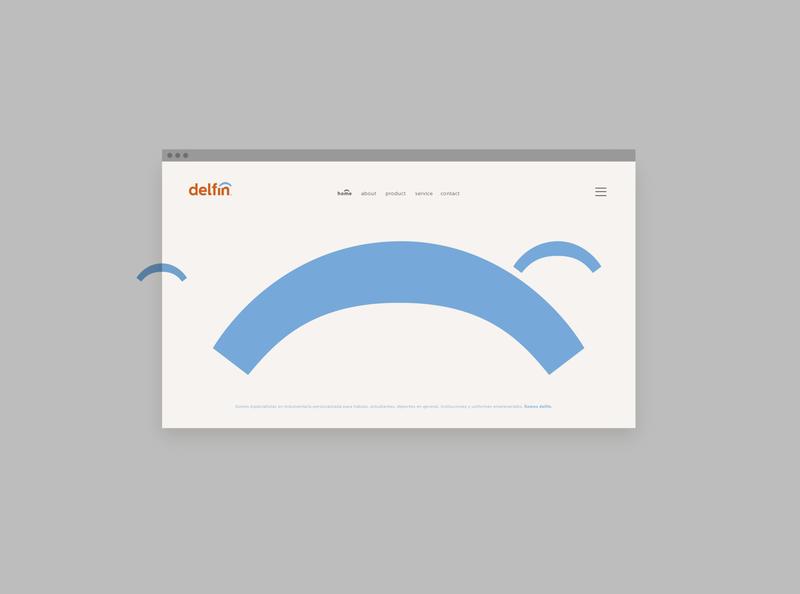 Delfin Identity typography icon branding logo visualdesign design