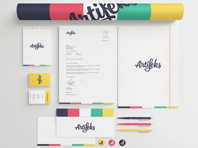 Artifeks stationary artifeks stationary mockup design logo corporate identity colors