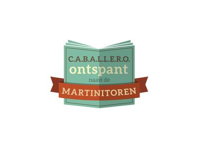 C.A.B.A.L.L.E.R.O theology book type fonts identity orange green annually logo caballero