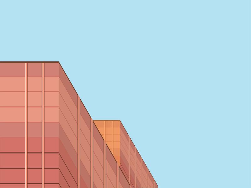 Building Archie 02 vector flat design building flat  design illustration