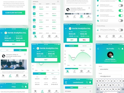 Cryptocurrency Mobile App ios flat gradient graph data visualisation cryptocurrency sketchapp mobile app mobile