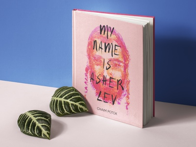 My Name Is Asher Lev –Global Book Series painting pink judaism jewish hand drawn typography print simple design cover illustration portrait illustration novel handwritten font pastel color pastel oil pastel portrait illustration art illustration book jacket book cover