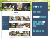 """""""Find Your Adventure"""" Camp Website –Event Search"""