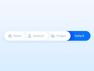 Day056   Breadcrumbs breadcrumbs project account home icon clean blue minimal dailyui
