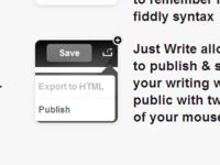 Just Write Landing Page