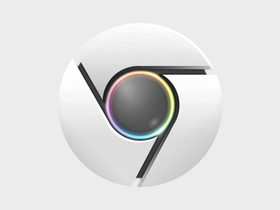 Chrome icon rainbow dribbble