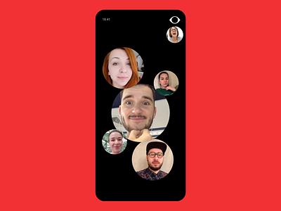 Hide Your Cute Face chat video camera sketch muzli mobile challenge motion principle s10 samsung samsung galaxy flat concept animation ux ui minimal design app