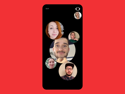 Hide Your Cute Face chat video camera sketch muzli mobile challenge motion principle s10 samsung samsung galaxy flat concept animation ux ui minimal design app