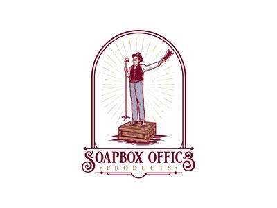 Soapbox Office logo inspirations speech marketing orator soapbox badge logo badge design awesome badge vintage badge hand drawing doodle vector design art vintage logo branding logo illustration drawing