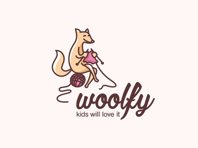 Wool clothing for kids - logo design