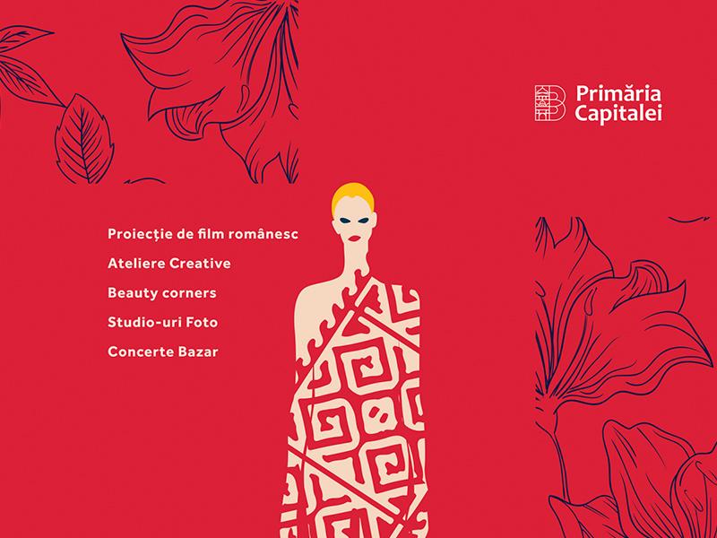 Creative Festival character clean minimal design girl woman festival flower vector art illustration visual