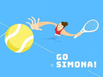 Go Simona!