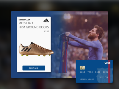 Daily UI #002 - Credit Card Checkout dailyui adidas barcelona soccer messi