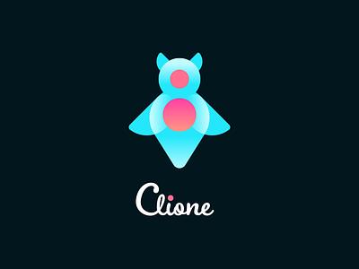 Clione sea angel clione design logo