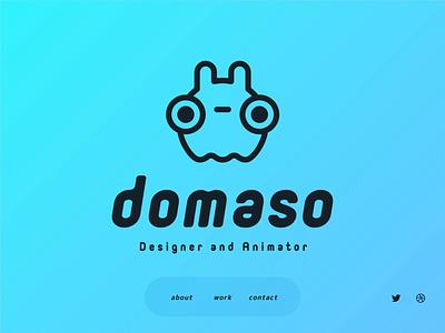 domaso - Portfolio Site motion design illustration portfolio design lotttie ux ui web animation