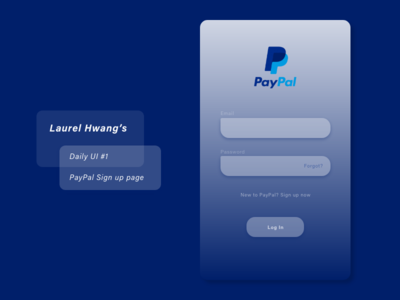 daily UI 001_PayPal sign up page