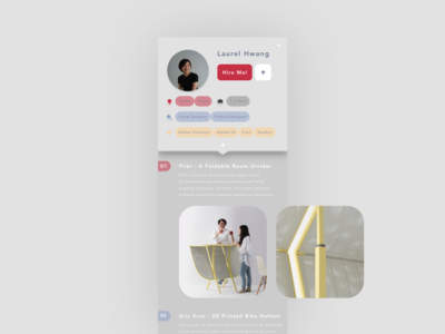 daily UI 006_personal profile of a job app