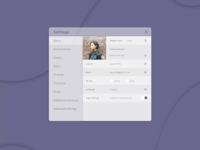 Daily UI 007_chatting room settings