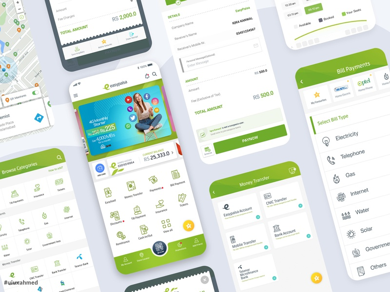 Easypaisa App New UI UX 2018 mobilepayment moneytransfer payment receipt revamp home expenses banking card easypaisa bank behance dribbble portfolio uidesign uxdesign ux ui