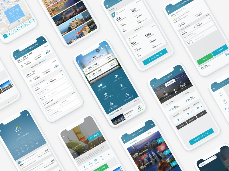 Flight & Travel App UI hotel ticket ux booking flight iphone dashboard ui uiuxahmed