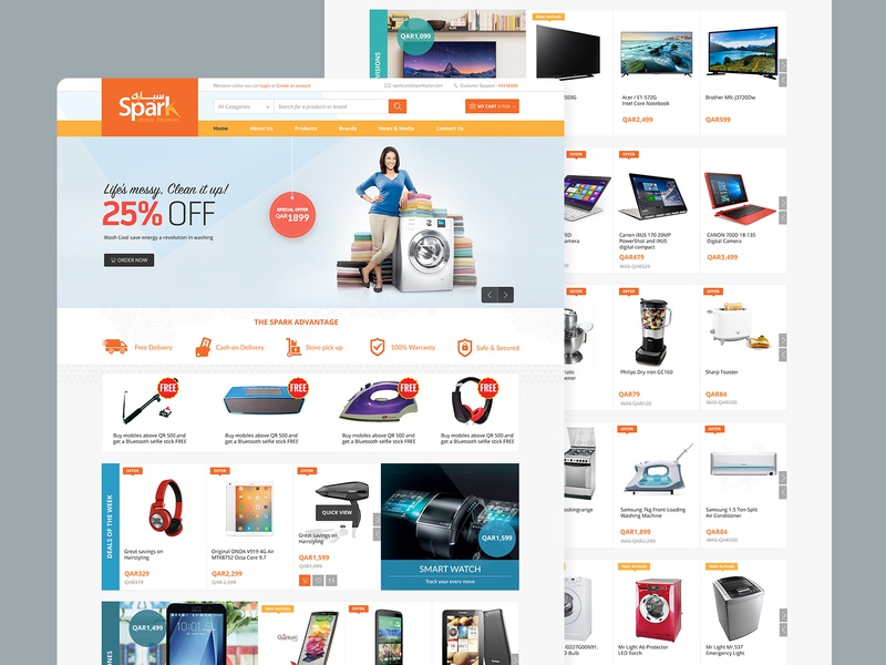Spark Electronics Website ecommerce online store shop design product spark electronics website web uidesign uxdesign ux ui mobileapp