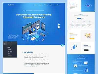 CheckKey Block Chain Hotel Website management crypto blockchain landing page web uidesign uxdesign ux ui mobileapp website