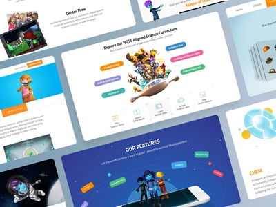 Education Game Project - Blue Apprentice uiuxahmed kids fun education character aboutus landingpage website