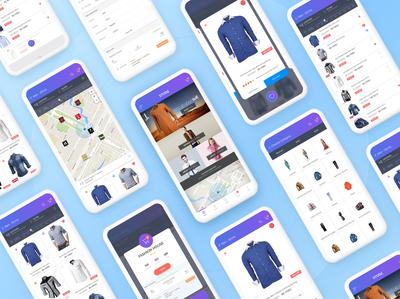 Fashion Brands & Shops App Design brands location interface fashion shop shopping ecommerce store app ux ui
