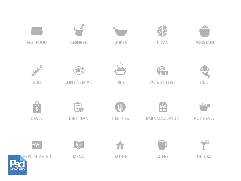 Free Food Icons diet health menu drink free psd psd free app icons icons