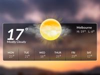 Mac New Weather Widget