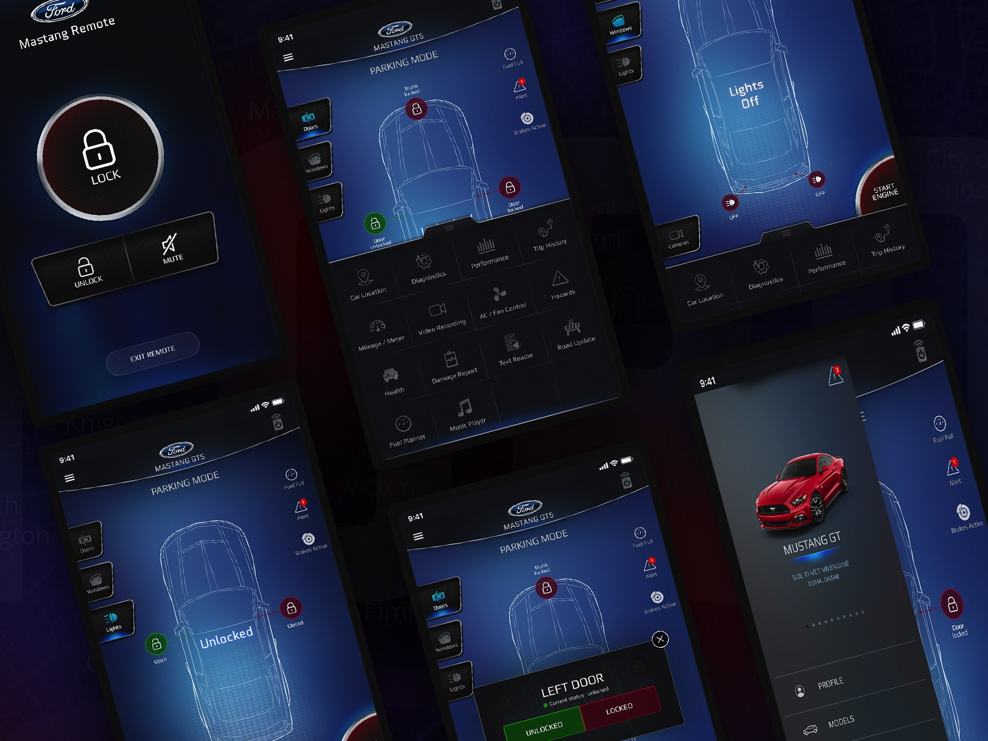Car Remote Ipad App by Ahmed Hassan on Dribbble