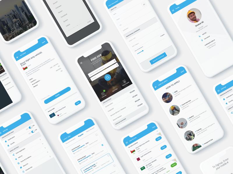 Job Listing App Ui Kit by Ahmed Hassan on Dribbble