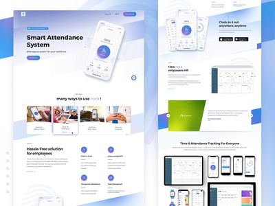 Nock - Smart Attendance System App Landing Page
