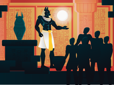 Anubis temple crowd death anubis gods god pharaoh magic ancient egypt ancient egyptian egypt arab character design