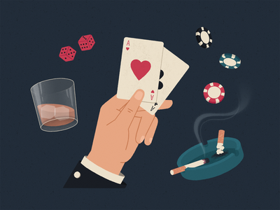 Playing Cards old fashioned oldschool ice glass win play ace smoke ashtray cigarette chip dice whisky hand clubs hearts card poker